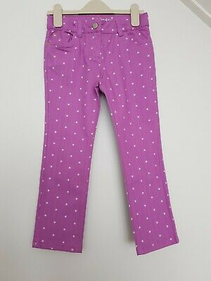 Mini Boden Purple/Pink Jeans/Trousers -  White Stars - Girls - 7 Yrs - NEW!!