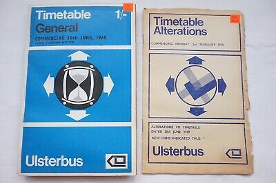 1969 Ulsterbus Bus Timetable Belfast Newry Omagh Armagh Northern Ireland Irish