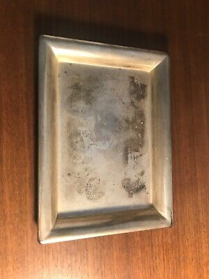 Square Antique International Silver Co Silverplated Serving Tray