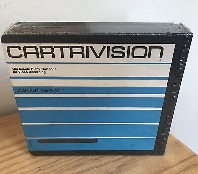 Sealed New RARE Blank Cartrivision Video Recording Tape Cartridge Vintage 70's