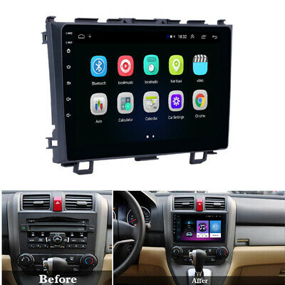 For 2006-11 HONDA CRV CR-V Stereo Radio Android 9.1 9'' HD 1+16GB Mirror Link