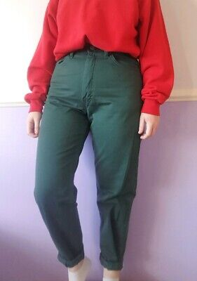'Classic' Real Vintage 90s Green High Waisted Straight Denim Jeans 28W 8/10 UK