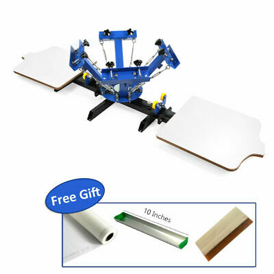 Silk Screen Printing Machine DIY T-Shirt Fabric Printing w/ 4 Color 2 Station