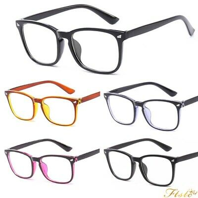 Clear Lens Square Frame Vintage Retro Fashion Geek Glasses Mens Womens Outdoors