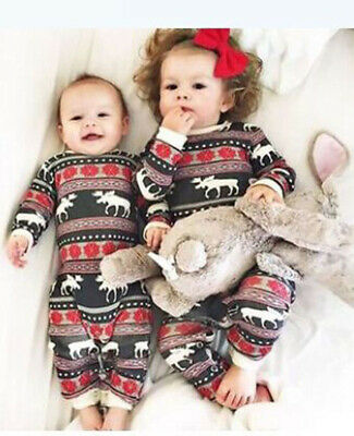 UK Christmas Men Women Kids Baby Family Pajamas Set Sleepwear Nightwear Pyjamas