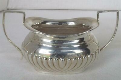 A Lovely English Antique Solid Sterling Silver Twin Handled Sugar Bowl Date 1903