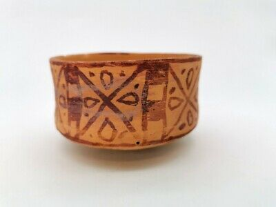 Ancient Indus Valley Terracotta Vessel With Geometric Patterns  - R357