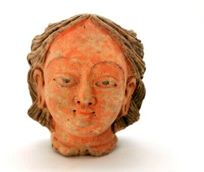 Ancient Roman Ca.100 Ad Terracotta  Head Of A Lady  R363
