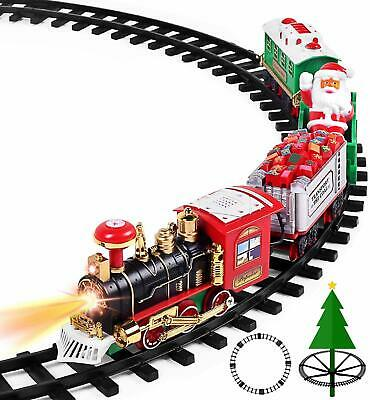 Train Toys For 3-10 Year Olds Boys Electric Set With Smoke Sounds 13PC BEST GIFT