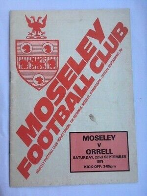 Moseley v Orrell Rugby Union Programme 1979