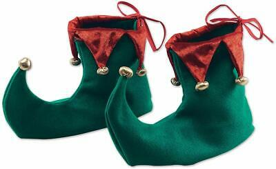 Christmas Elf Shoes Red And Green Jester Pixie Boots Fancy Dress costume