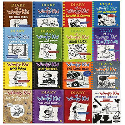 Diary of a Wimpy Kid 16 Books Collection Set by Jeff Kinney (The Meltdown Etc. )
