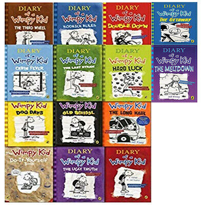 Diary of a Wimpy Kid 14 Books Collection Set by Jeff Kinney (The Meltdown )