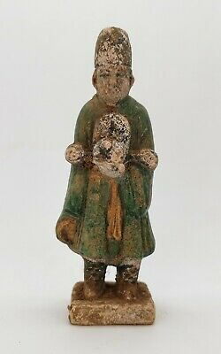 Ancient Chinese Ming Dynasty Ca.1368 -1644 Ad  Glazed Attendant Figurine  R 215