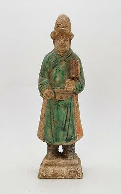 Ancient Chinese Ming Dynasty Ca.1368 -1644 Ad  Glazed Attendant Figurine  R 216
