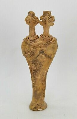 Ancient Syro Hittite Terracotta Fertility Idol Breast Feeding  R244