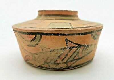 Ancient Indus Valley Terracotta Vessel With Animal Motifs  - R245