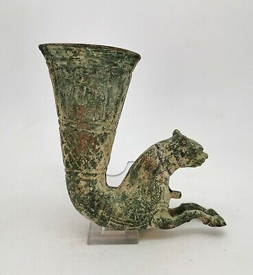 Ancient Greek Hellenistic Terracotta Rython With A Horse Terminal R253