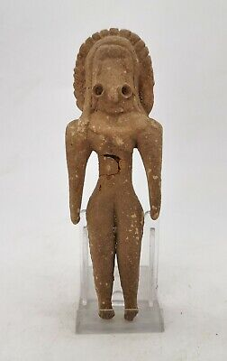 Ancient Indus Valley Civilization Terracotta Seating Fertility Idol R259