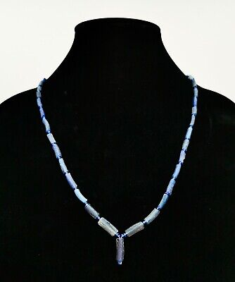 Ancient Roman  Blue Beaded Glass Necklace R282