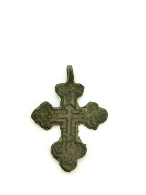 Medieval Knights Templar Bronze Cross With Suspension Loop  R47