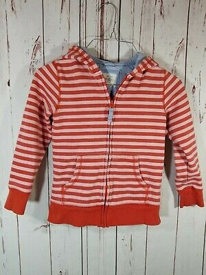 U37 Girl's Mini Boden red/pink striped full zip jacket size 8