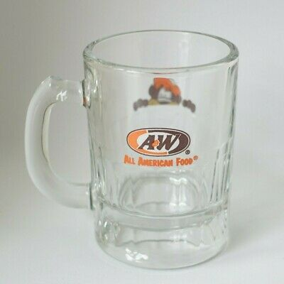 A&W Restaurants Root Beer Baby Glass Mug with Cute Root Bear (New)