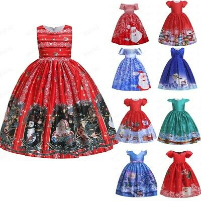 Kids Child Girls Cartoon Princess Pageant Gown Christmas Party Wedding Dress US