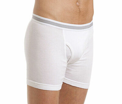 Haigman Mens Boxer Short With Fly Underwear (Pack of 3)