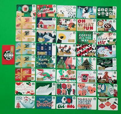 42 STARBUCKS Cards 2019 CHRISTMAS HOLIDAY RECYCLABLE GIFT CARDS set new