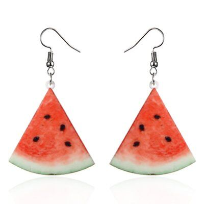 Hot Women Fashion Cute Fruit Watermelon Drop Dangle Hook Earrings Jewellery Gift