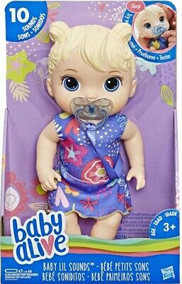 Baby Alive Lil Sounds Interactive Baby Doll Blonde Hair BRAND NEW