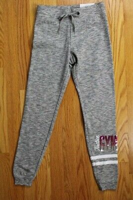 """Justice Active Logo Girls' Size 7 Joggers with """"Justice"""" & """"Gymnast"""" in Sequins"""