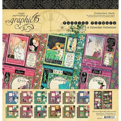 """Graphic 45 Fashion Forward 12"""" Collection Pack  24pg + Stickers"""