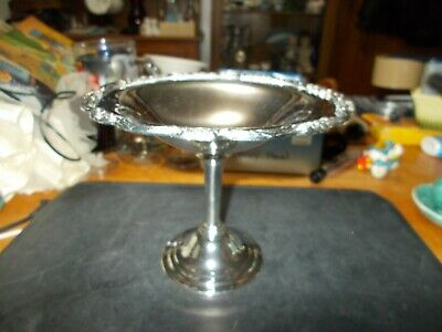 Silver Plate Pedestal  Candy Dish