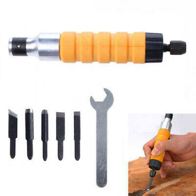 Electric Woodworking Chisel Carving Knife Wrench Flexible Shaft Craft Tool Set