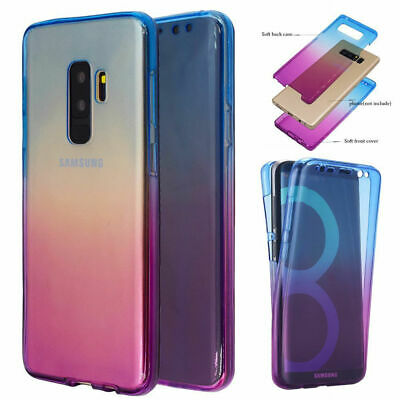 Ultra Slim 360° Full Body Clear Case TPU Gel Soft Cover For Samsung Note 9/S9/S8