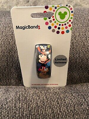 Disney Parks 2019 Mickey Mouse & Friends Magic Band 2 WDW Pluto Goofy Chip LR
