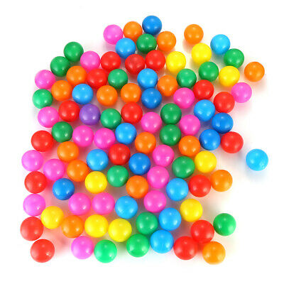 100pc Ball Pit Balls Play Kids Plastic Baby Ocean Soft Toy Colourful Playpen Fun