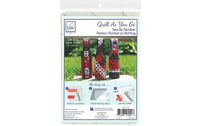 June Tailor Jt-1490 Quilt As Go C P Wine Totes 3Pc