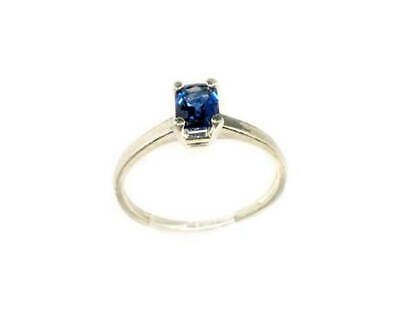 Blue Sapphire Gemstone Ancient Etruscan Greek Roman Gem Sterling Silver Ring