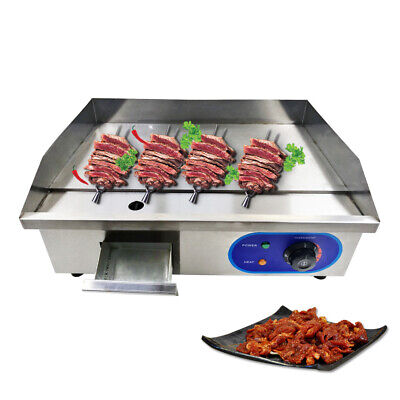 3000W Commercial  Electric Griddle Flat Pan BBQ Grills for Chicken AU Plug