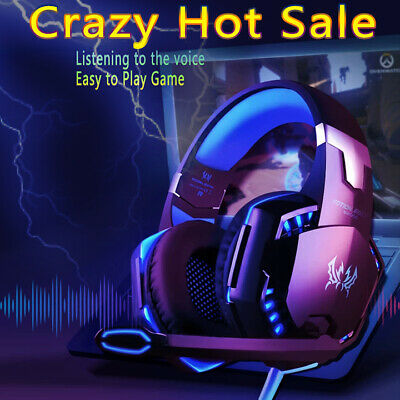 EACH G2000 Pro Game Gaming Headset USB 3.5mm LED Stereo PC Headphone Microphone.