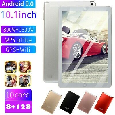 10.1 inch Android 9.0 Tablet HD 8+128GB Home Button Dual SIM Dual Camera Phablet