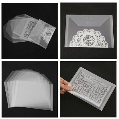 10 Pcs/lot Clear Plastic Storage Bag Resealable Case For Cutting Die Stamp Card