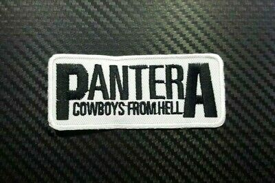 PANTERA ROCK MUSIC COWBOY HELL METAL Embroidered Iron Sew On Patch Logo Badge