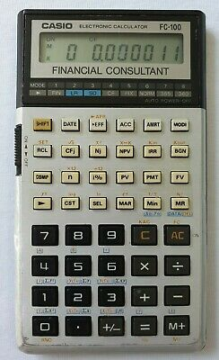 Vintage Casio FC-100 Financial Consultant Retro Calculator Working FREE SHIPPING
