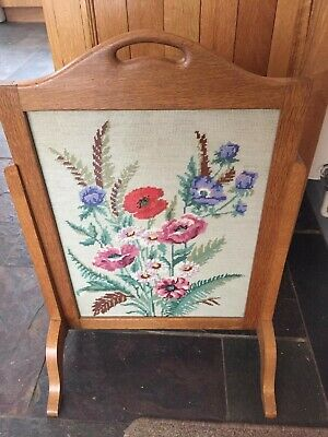 Alan 'Acornman' Grainger Firescreen Yorkshire Arts & Crafts - Rare
