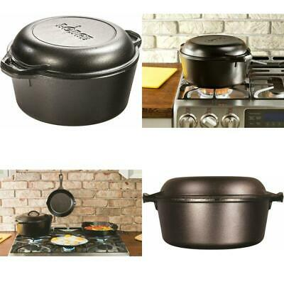 Lodge L8DD3 Cast Iron Dutch Oven 5 qt MAKE EVERY MEAL A MEMORY SEASONED COOKWARE