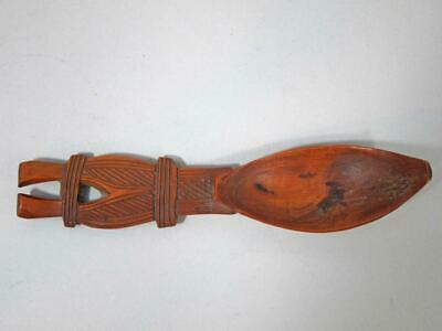 Antique Wooden Somali Boni People Coffee Spoon Horned Carved Handle Africa